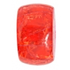 "Resin Tyre Beads 12x20mm 8"" Strand Crack Red"
